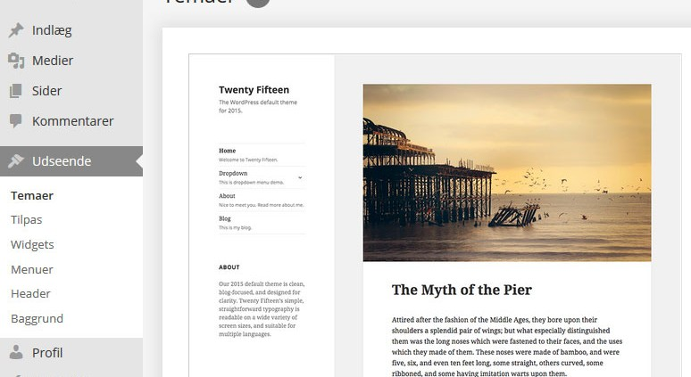 Rediger WordPress layout
