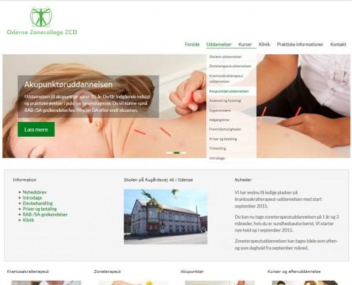ZCD Odense Wordpress hjemmeside