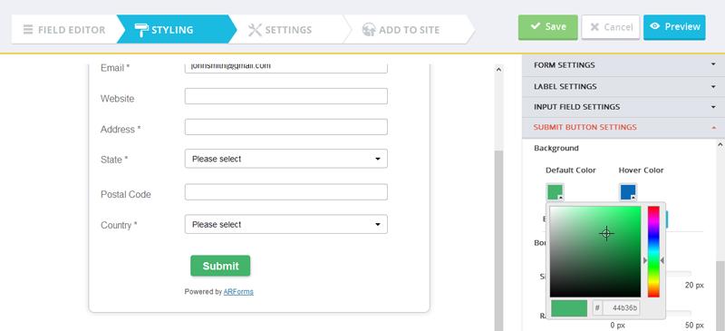 Rediger submit knap i formular
